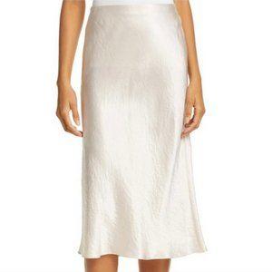 Theory Maxi Slip Skirt Ivory Satin Size Large